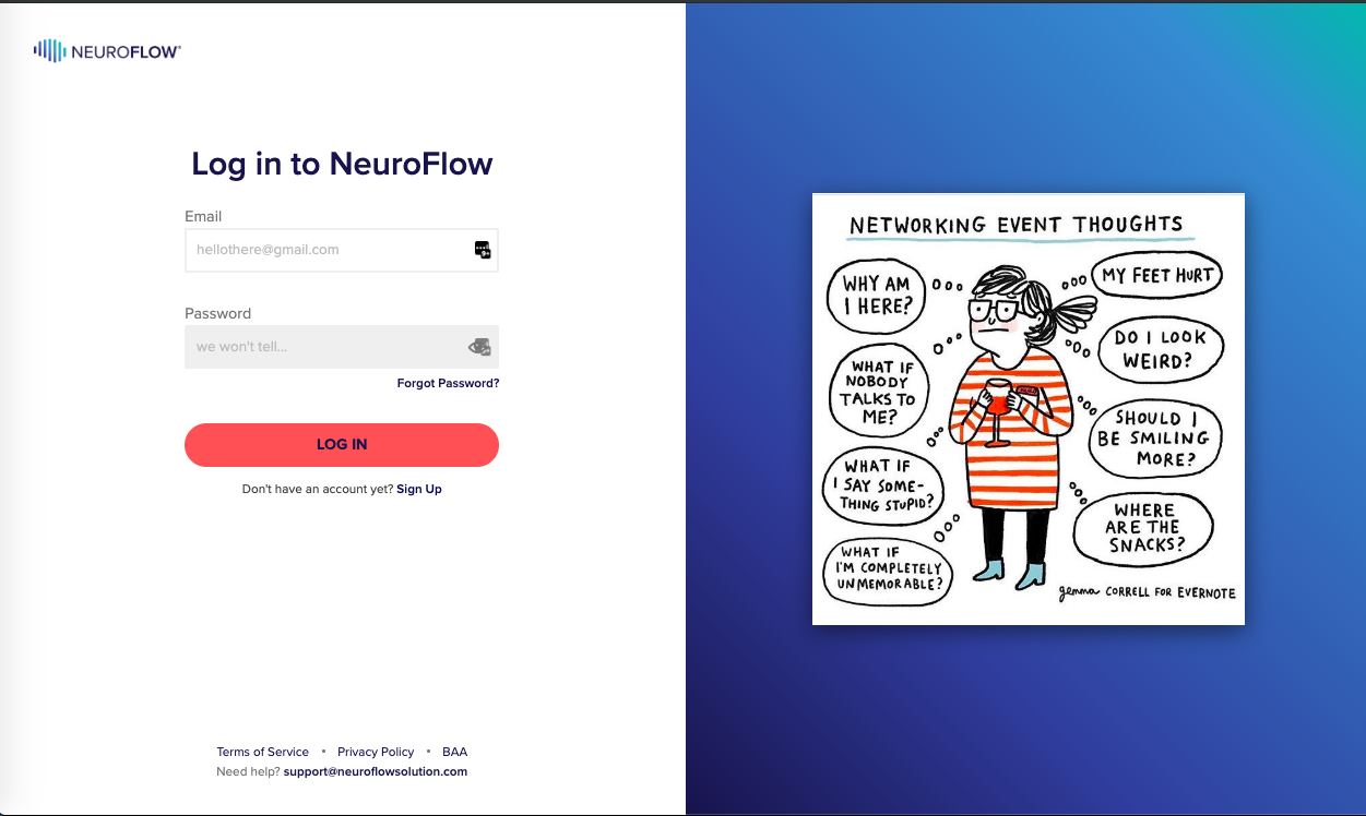 Do I have to log in using my phone? – NeuroFlow